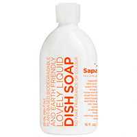Sapadilla Liquid Dish Soap, Grapefruit and Bergamot, 473 mL