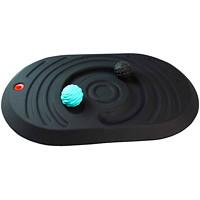 Tapis antifatigue à plateforme de massage actif AFS-TEX Floortex, noir, 32po x 20po