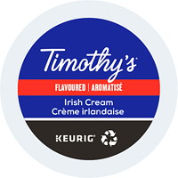 Timothy's Single-Serve Coffee K-Cup Pods, Irish Cream Flavoured, 24/BX