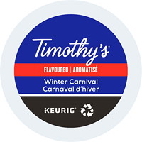 Timothy's Single-Serve Coffee K-Cup Pods, Winter Carnival Flavoured, 24/BX
