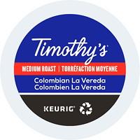 Timothy's Single-Serve Coffee K-Cup Pods, Colombian La Vereda, 24/BX