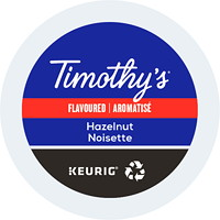 Timothy's Single-Serve Coffee K-Cup Pods, Hazelnut Flavoured, 24/BX