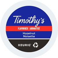 Dosettes K-Cup de café Timothy's, aromatisé Noisette, boîte de 24