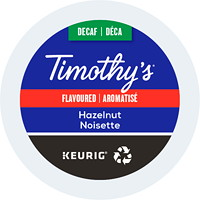 Timothy's Single-Serve Coffee K-Cup Pods, Decaf Hazelnut Flavoured, 24/BX