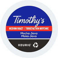 Timothy's Single-Serve Coffee K-Cup Pods, Mocha Java, 24/BX