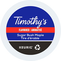 Timothy's Single-Serve Coffee K-Cup Pods, Sugar Bush Maple Flavoured, 24/BX