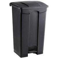 Safco Step-On Receptacle, Black, 23-Gallon Capacity