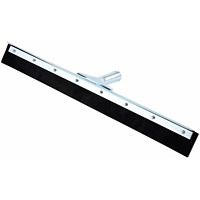 Globe Commercial Products Straight Metal Frame Floor Squeegee, Black Rubber, 24