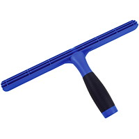 Globe Commercial Products T-Bar Window Squeegee, Blue, 14