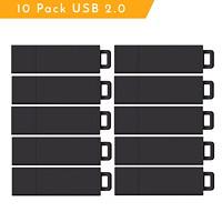 Centon Pro2 USB 2.0 Flash Drives, 8 GB, Black, 10/PK