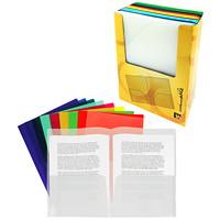 Porte-documents à deux pochettes Winnable, couleurs variées, format lettre, emb. de 120