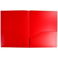 Porte-documents à deux pochettes Winnable, rouge, format lettre