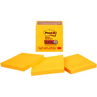 Post-it Super Sticky Notes, Neon Orange, 3