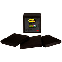 Post-it Super Sticky Notes, Black, 3