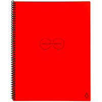 RocketBook Everlast Letter-Size Notebook, Red, 8 1/2