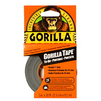 Gorilla Tape To-Go, Black, 1