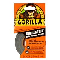 Ruban adhésif Gorilla, noir, 1po x 30pi