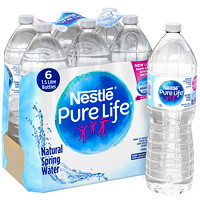 Nestle Pure Life Bottled Natural Spring Water, 1.5 L, 6/CS
