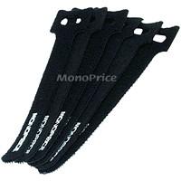 Monoprice Hook and Loop Fastening Cable Ties, Black, 6