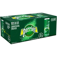 Perrier Sparkling Water, Slim Cans, 250 mL, 10/PK
