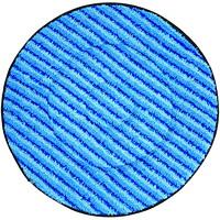 Tampons de nettoyage en microfibre pour autorécureuse SuperCourt Diversey, bleu, 20po, caisse de 5