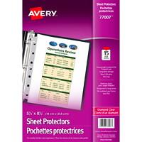 Mini pochettes protectrices transparentes épaisses 5 1/2 po x 8 1/2 po Avery