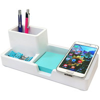 Artistic Smart Charge Desktop Organizer, White
