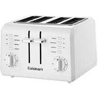 Cuisinart Compact 4-Slice Toaster, White