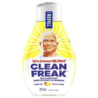 Recharge de bruine nettoyante en profondeur multisurfaces M. Net Clean Freak, zeste de citron, 473ml