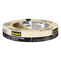Scotch 2020 Contractor Grade Masking Tape, Tan, 18 mm x 55 m