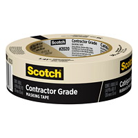 Scotch 2020 Contractor Grade Masking Tape, Tan, 36 mm x 55 m