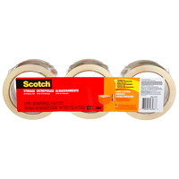 Scotch Moving and Storage Packaging Tape, 48 mm x 50 m, 3/PK