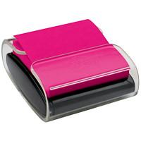 Distributeur noir de feuillets éclair 3po x 3po Post-it de couleur rose