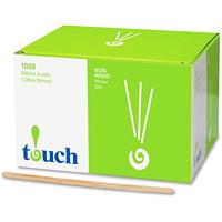 Bâtonnets en bois Touch, 7po, boîte de 1000