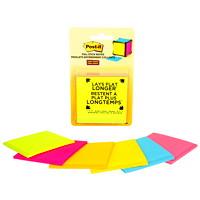 Feuillets super collants entièrement adhésifs Post-it, couleurs variées, emb. de 6