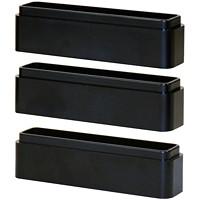 DAC Stax MP-216 Ergonomic Height-Adjustable Monitor or Laptop Riser Blocks Kit, Black, 3/PK