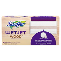 Swiffer WetJet Wood Mopping Pad Refills, 10/BX