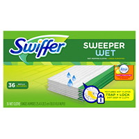 Swiffer Sweeper Wet Mopping Cloth Refills, Febreze Sweet Citrus and Zest Scented, 36/PK