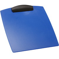 Storex Heavy-Duty Poly Clipboard, Blue, Letter Size