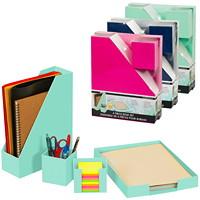 Merangue 4-Piece Desk Set, Assorted Colours (No Colour Choice On Delivered Orders)