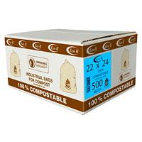 Sacs à déchets organiques industriels Eco II, 22po x 24po, caisse de 500