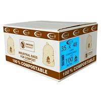 Sacs à déchets organiques industriels Eco II, 35po x 48po, caisse de 100
