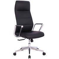 TygerClaw Executive Office Chair, High-Back, Black, PU Leather