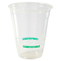Eco Guardian Compostable Cups, Clear, 12 oz, 50/PK