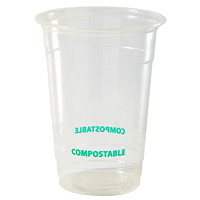 Eco Guardian Compostable Cups, Clear, 16 oz, 50/PK