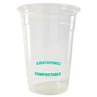 Gobelets compostables Eco Guardian, transparent, 16 oz, emb. de 50