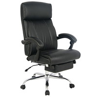 TygerClaw Executive Office Chair, High Back, Black, PU Leather