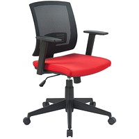 TygerClaw Office Chair, Low Back, Black/Red, Mesh