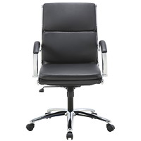 TygerClaw Executive Chair, Mid Back, Black, Bonded Leather