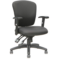 TygerClaw Office Chair, Mid-Back, Black, Fabric